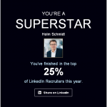 LinkedIn calls me a superstar - thanks to all my clients and candidates!